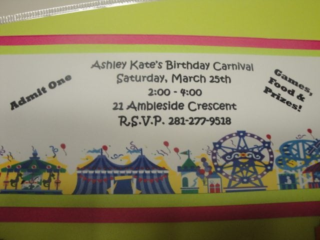 carnival birthday party
