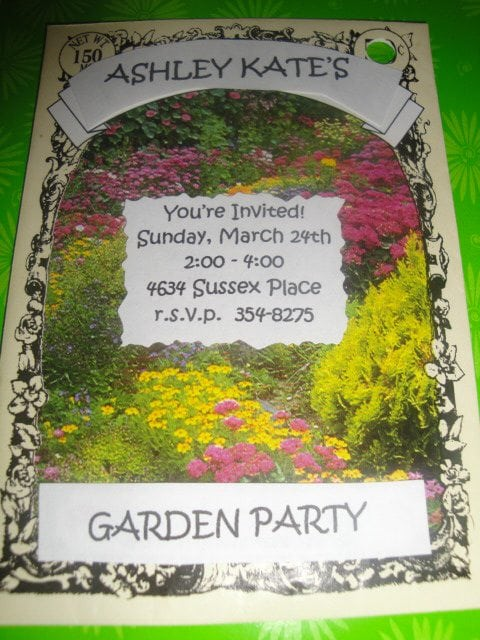 seed packet invitiations