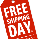 Today is FREE SHIPPING DAY!