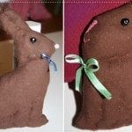 """Baby's First """"Chocolate Bunny"""" – An Easter Craft made with Fabric!"""
