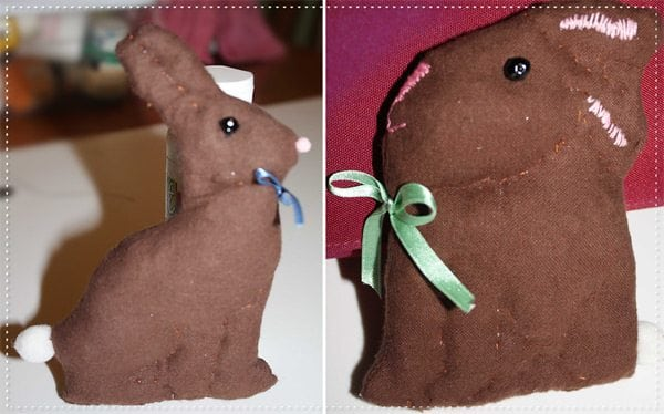 chocolate bunny what. a real chocolate bunny.
