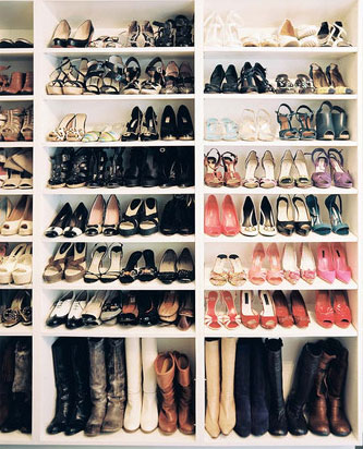 How To Use Bookcases For A Shoe Rack