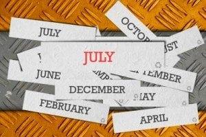 free personal organizer july