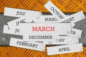 March shopping calendar