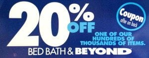 bed bath and beyond coupon policy