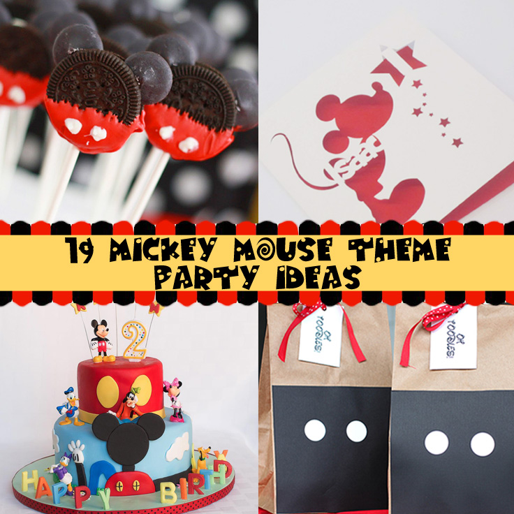 Plan a Mickey or Minnie Mouse Theme Party on a budget with this collection of clever party ideas.  You'll be inspired and impressed with ideas for invitations, decorations, games, activities, food and favors.