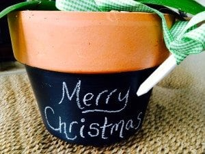 diy chalkboard flower pot