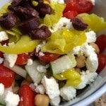 ingredients for a mediterranean bowl