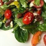 Greek Spinach Salad Recipe with Homemade Dressing