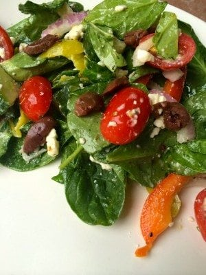 greek salad recipe with homemade dressing