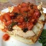 chicken bruschetta sandwich