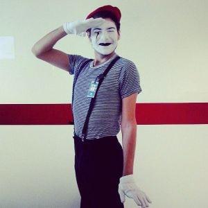 homemade mime halloween costume