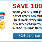 Free Box of Jiffy Corn Muffin Mix