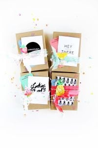 gift wrapping with craft paper