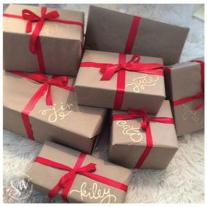 kraft paper gift wrap ideas