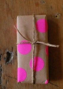 kraft paper as gift wrap