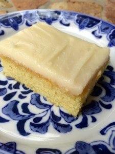 White Texas Sheet Cake Using Cake Mix