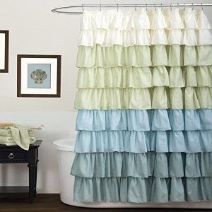 Let ruffles add texture to your bed or bath.
