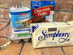Hershey's symphony candy bar brownie recipe