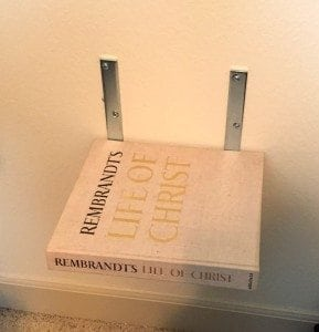how to make DIY floating bookshelves
