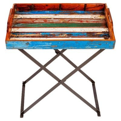 recycled boat tv tray