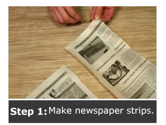 Diy basket from old newspaper