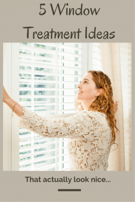 These  5 Simple Window Treatments will inspire you with ideas that won't break your budget