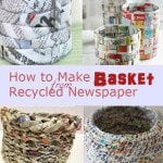 Diy basket from old newspaper