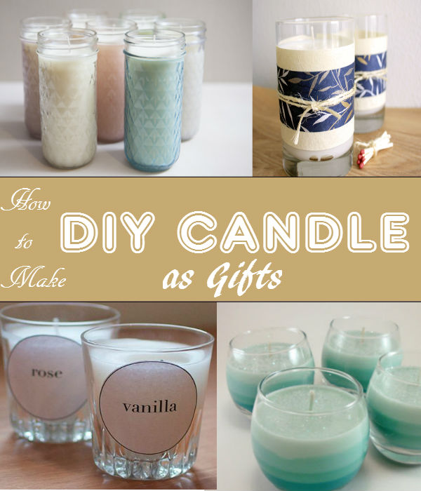 Keep your house smelling good with DIY scented candles. The scent lets you relax after a long busy day.