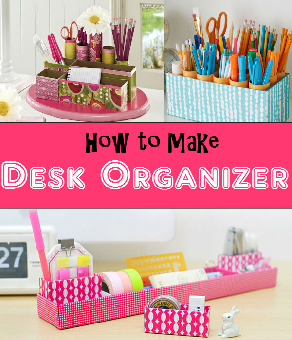 Keep your things in order and in one place with DIY desk organizer. Avoid misplacing your stuff and keep your desk neat..