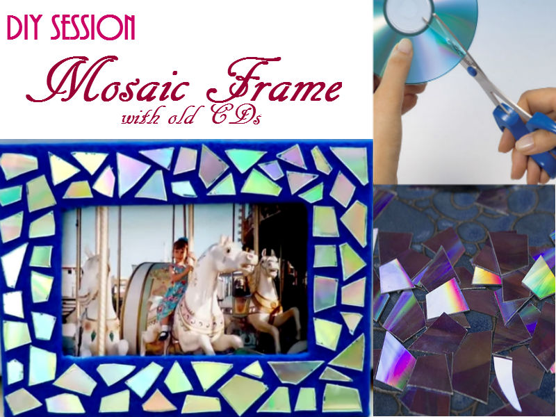 This DIY mosaic frame will surely captivate everyone and believe it or not, it is easy to make.