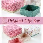 Wrap your Present with DIY Origami Gift Box