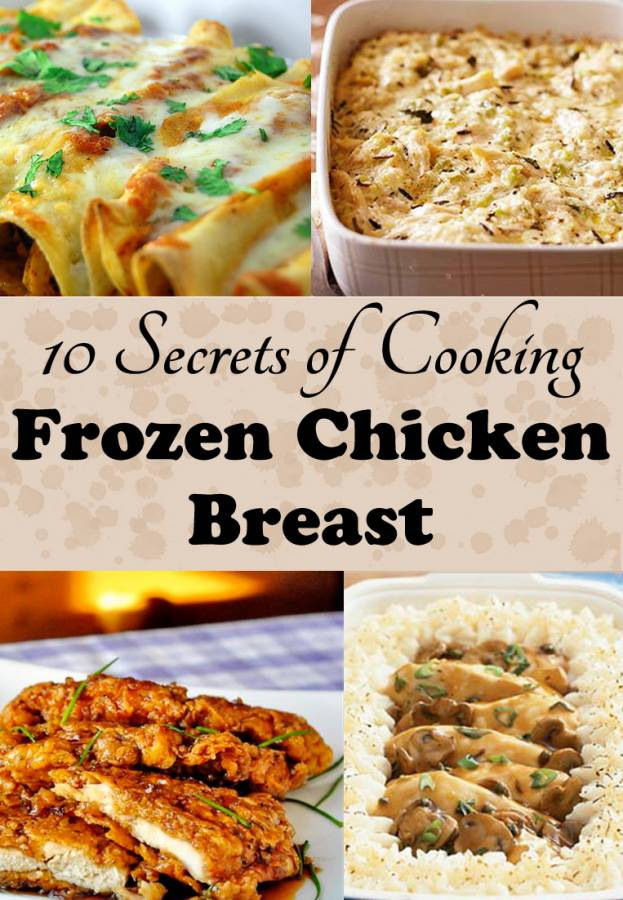 Place frozen chicken in crock pot. Pour the milk and at least one can of cream soup onto the chicken. Add a second can of cream soup for additional gravy if desired. Add water to the stuffing mix and seasoning, then spoon the mixture over the chicken. Cover the crock pot and cook for hours or until chicken is cooked through.