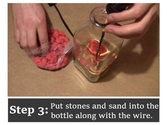 Diy bottle lamp