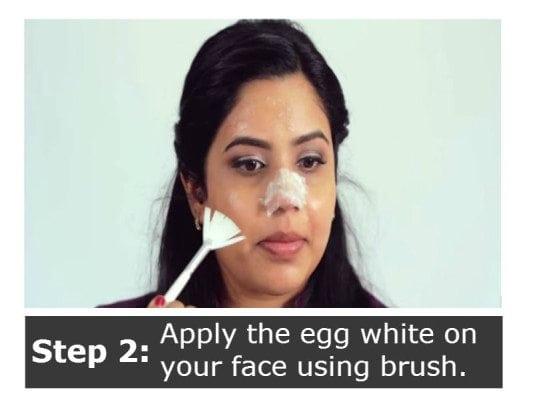 Diy egg facial mask