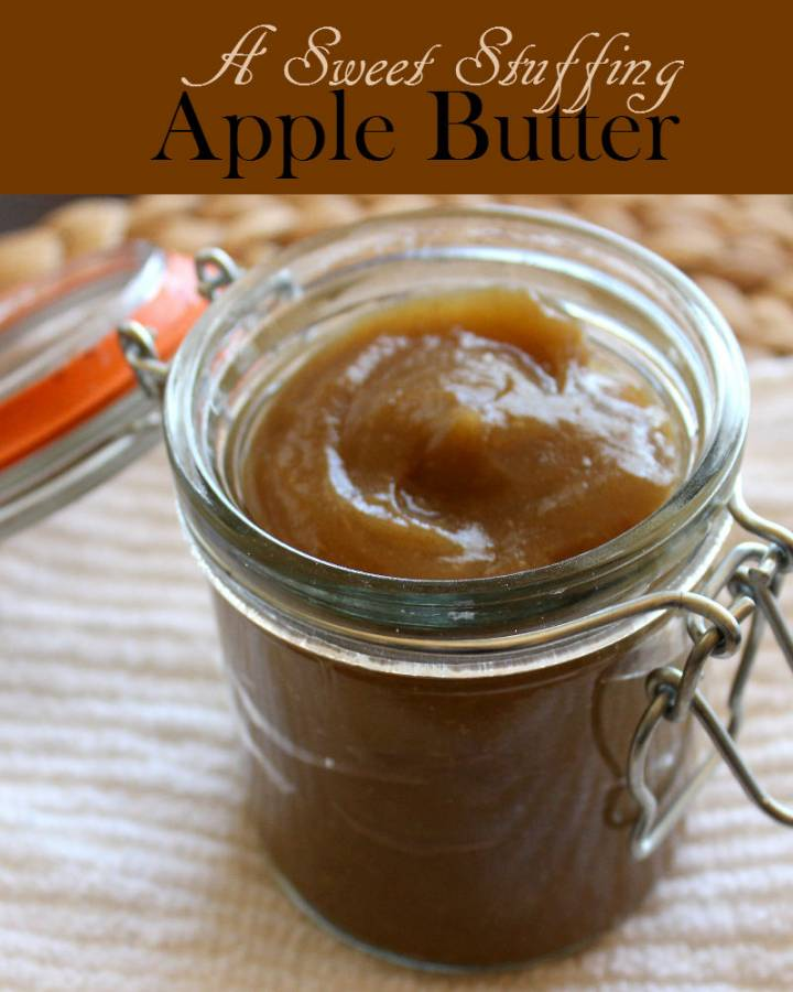 Apple Butter is a delicious way to preserve apple butter. The sugar in apple gives this  stuffing its dark brown color and sweet flavor.