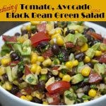 Tomato, Avocado and Black Bean Green Salad