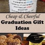"Is this one of those years that you have lots of graduation gifts to buy? No worries…The Budget Diet girl has plenty of ideas for cheap and cheerful graduation gifts that are clever and thoughtful without screaming ""cheap""!"