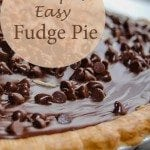 Fudge Pie – Perfect for Valentine's Day!