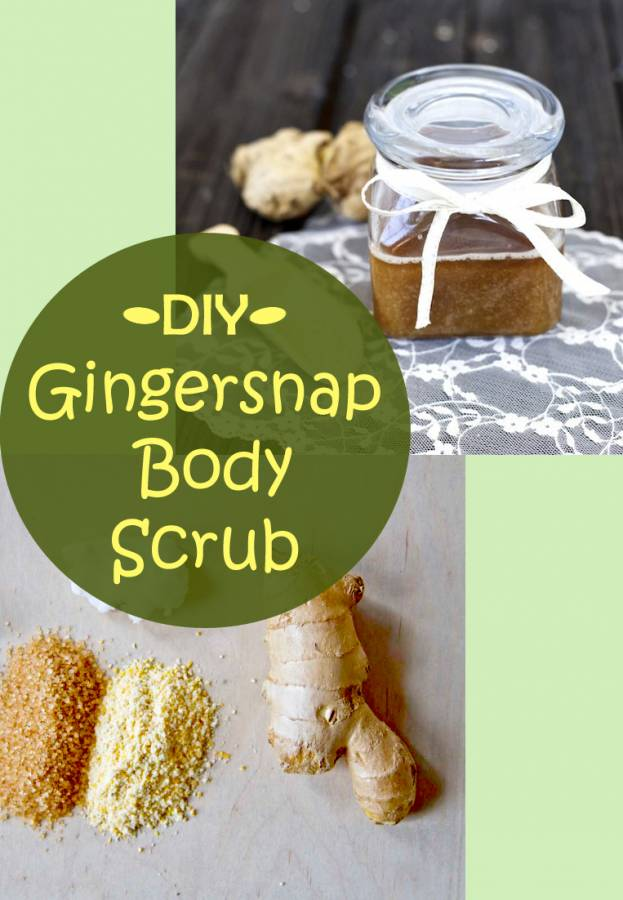 """My Gingersnap Body Scrub is perfect for holiday gift giving combining the scents of the season with nourishing oils and exfoliating sugar and salt. How easy is that? Make it up in big batches and put it in pretty jars and wait for the """"oohs and ahhs"""" to roll in."""