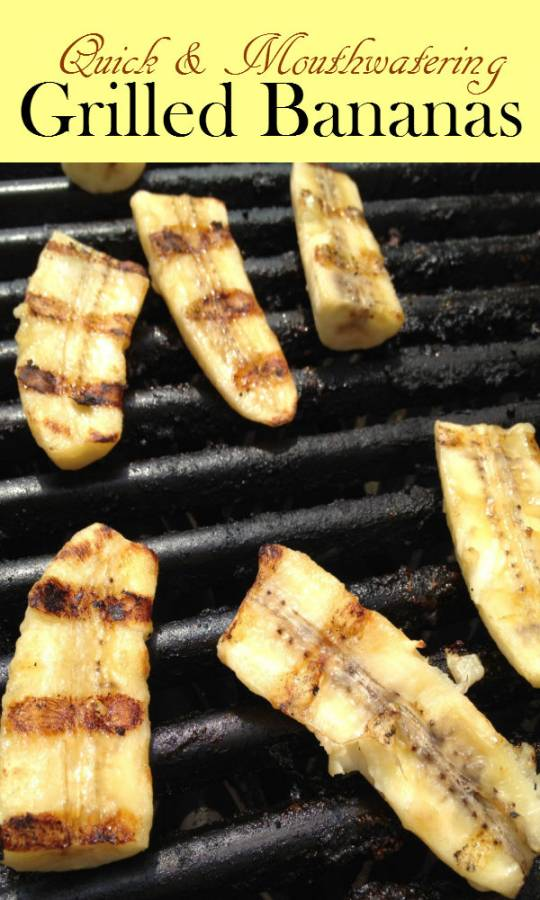 Grilled bananas is a mouthwatering warm dessert that the whole family will crave for.  Whipped with favorite cream, it is an excellent treat.