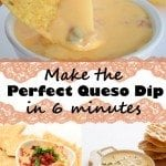 Chips and Queso are a must-have at a Super Bowl Party, and you'll love this quick and delicious White Queso Recipe.