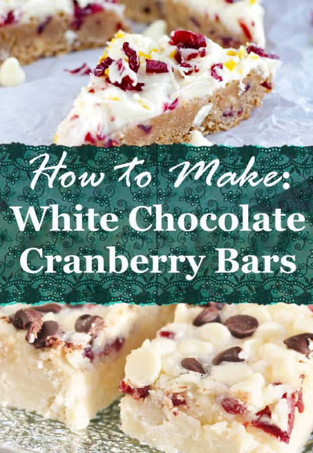 Learn how to make delicious white chocolate cranberry bars that are perfect for the holidays!