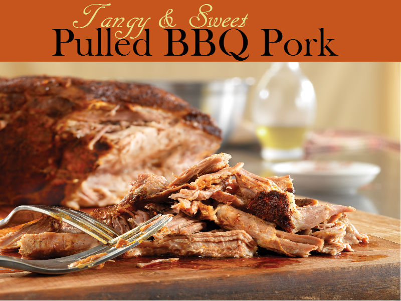 Tenderized and mouthwatering, Pulled BBQ Pork brings a sweet and tangy flavor you will never forget. It is an ideal stuffing for your favorite sandwiches or buns.
