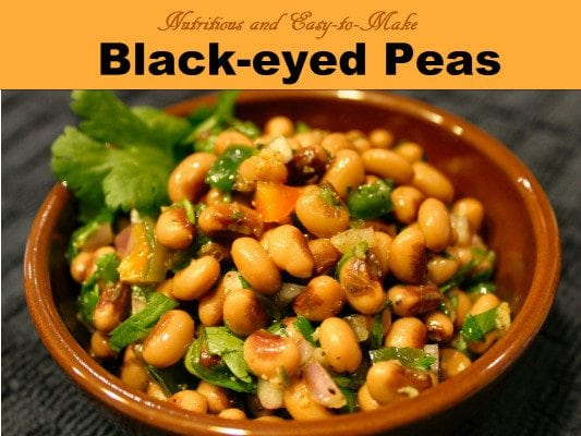Black eyed peas are so versitile, healthy and easy to make.  Make up a huge batch and then individually freeze them for later use.