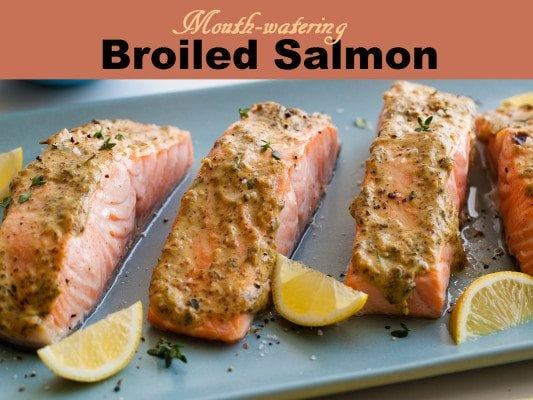 This broiled salmon with lemon is a healthy and delisious meal you'll want to eat again and again!