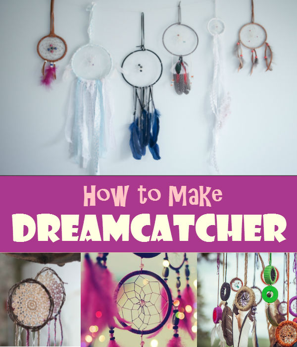 Have a beautiful dream tonight with DIY dreamcatcher. You can give it as present to someone special or to a child.
