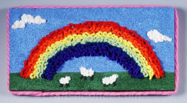 diy-rainbow-yarn-picture