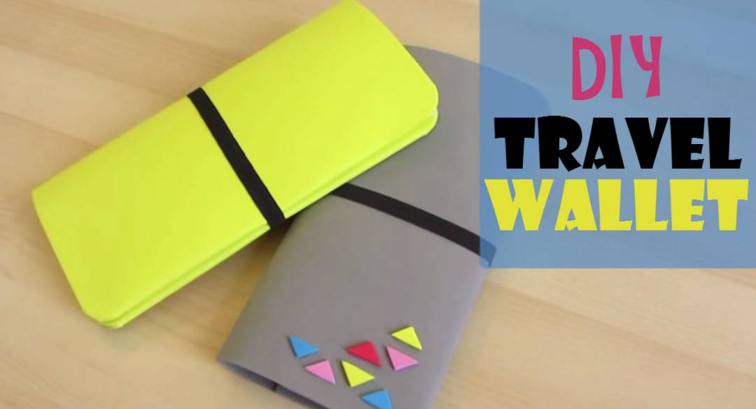 Keep and secure your essential with this DIY travel wallet. No need to spend a lot when you can make one on your own.