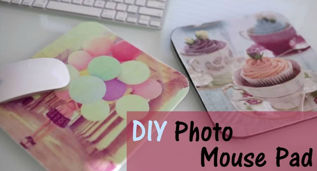 DIY photo mouse pad that perfectly matches your functional mouse. Pleasing designs as good inspiration.